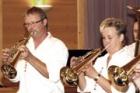 Bläser mit Trompeten