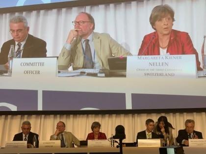 Margret Kiener Nellen an der PV OSZE-Konferenz in Luxemburg