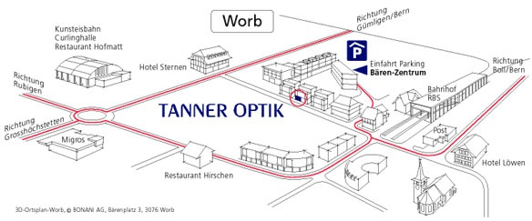 Lageplan Tanner Optik