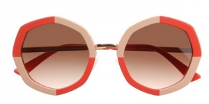 Sonnenbrille Face à Face orange rosa